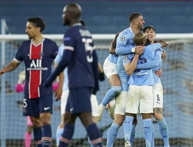 FOTO: Sejarah! Singkirkan PSG, Manchester City Kali Pertama Lolos ke Final Liga Champions - Tim Manchester City