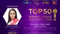 CEO Persijap Jepara, Esti Puji Lestari masuk nominasi 50 Pemimpin Wanita Asia-Pasific.