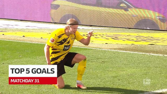 Berita Video Termasuk Gol dari Erling Haaland, Berikut 5 Gol Terbaik Bundesliga Pekan 31