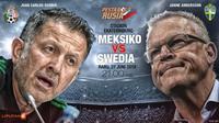 Meksiko vs Swedia (Liputan6.com/Abdillah)
