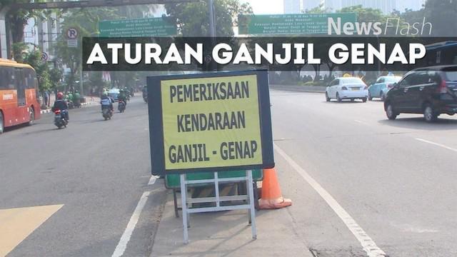 Pemprov DKI Jakarta mulai memberlakukan aturan pembatasan kendaraan ganjil genap di jalan protokol DKI Jakarta