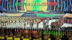 Di Sea Games kali ini Indonesia gagal mempertahankan gelarnya sebagai juara umum. Semoga di tahun 2015 para pejuang olahraga bisa memperoleh kejayaan di Sea Games ke-28 yang akan diselenggarakan di Singapura (Antara Foto/Prasetyo Utomo)