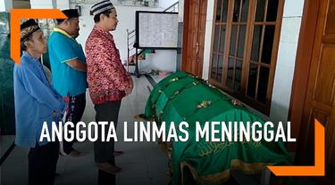 Seorang anggota Linmas di Mojokerjto Jawa Timur meninggal dunia, diduga karena kelalahan usai seharian menjaga tempat pemungutan suara.