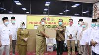 Sekjen Gerindra Ahmad Muzani Membantu Pemda Lampung. (Foto: Dokumentasi Gerindra).