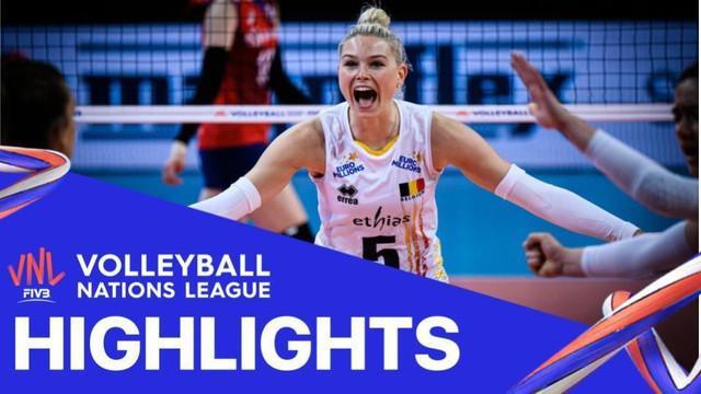 Berita Video Highlights Volleyball Nations League, Tim Putri Belgia Vs Korea Selatan 3-2