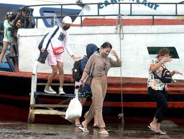 Arus Balik Libur Tahun Baru dari Kepulauan Seribu