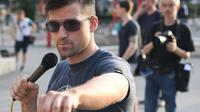 Martin Sellner, dari Identitarian Movement Austria (IBÖ), diduga terkait dengan pelaku teror penembakan massal di masjid Christchurch, Selandia Baru (Rizki Akbar Hasan / www.sulawesita.com)