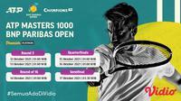 Jadwal dan Live Streaming ATP BNP Paribas Open Indian Wells 2021 di Vidio Pekan Ini