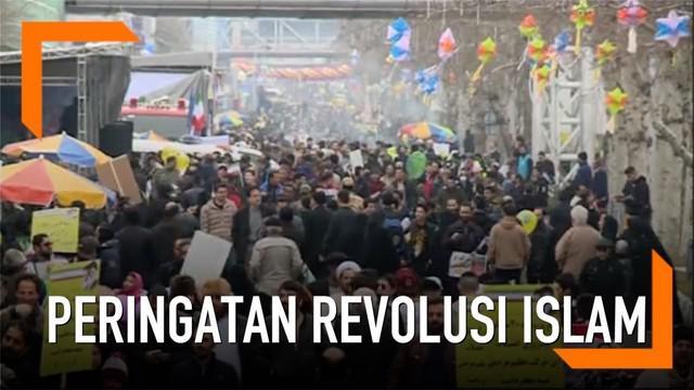 Rakyat Iran memulai aksi unjuk rasa di jalan-jalan seluruh negeri untuk menandai peringatan 40 tahun Revolusi Islam sejak 1979.