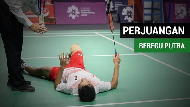 Video perjuangan bulutangkis beregu putra Indonesia di final menghadapi China pada Asian Games 2018.
