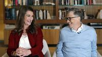 Bill Gates dan Melinda pada 2019. (AP Photo/Elaine Thompson, File)