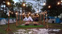 Camping di sela hamparan salju bisa dilakukan di Yogyakarta (Liputan6.com/ Switzy Sabandar)
