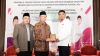 Wakil Ketua MPR RI Hidayat Nur Wahid (HNW) saat menjadi narasumber Sosialisasi Empat Pilar MPR RI kerja sama MPR dengan Kesatuan Aksi Mahasiswa Muslim Indonesia (KAMMI) Pekanbaru, Provinsi Riau.