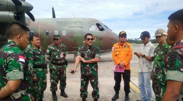 Persiapan operasi pencarian helikopter MI-17 di Oksibil, Kabupaten Pegunungan Bintang