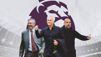 Premier League - Sir Alex Ferguson, Jose Mourinho, Pep Guardiola (Bola.com/Adreanus Titus)