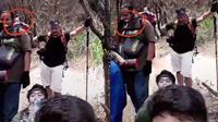 Penampakan sosok misterius terekam pendaki gunung. (TikTok/@naufalsinatrya_)