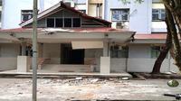 Gedung Unpatti rusak akibat gempa Ambon pada Kamis (26/9/2019).  (Dok Badan Nasional Penanggulangan Bencana/BNPB)