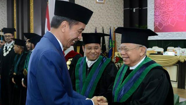 Ucapan Selamat Jokowi Untuk Gelar Honoris Causa Ketua Umum Mui News Liputan6 Com