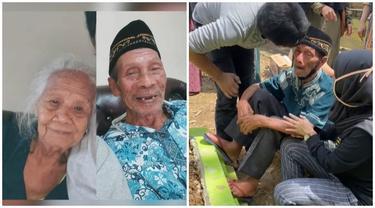 Kisah Haru Aksi Kakek yang Tak Mau Tinggalkan Makam Sang Istri, Bukti Cinta Sejati