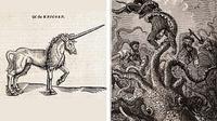 Ilustrasi hewan mitologi (Sumber: Wikipedia (dari salinan Vingt mille lieues sous les mers oleh Hetzel))