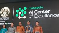 Peresmian pusat pengembangan AI, kolaborasi Tokopedia dan UI di Kampus UI, Depok, Kamis (28/3/2019). Liputan6.com/Agustin Setyo W