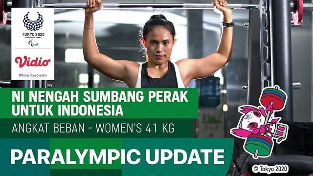 Berita video atlet para-powerlifting Indonesia, Ni Nengah Widiasih sukses raih medali perak di Paralimpiade Tokyo 2020, Kamis (26/8/21)