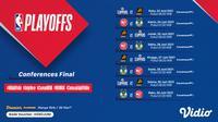 Jadwal dan Link Live Streaming NBA Final Conference di Vidio Pekan Ini. (Sumber : dok. vidio.com)
