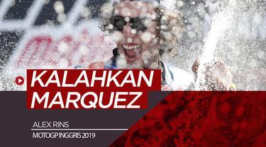 Berita video Alex Rins mengalahkan Marc Marquez di Sirkuit Silverstone, Inggris, mungkin dalam duel paling menegangkan musim 2019, Minggu (25/8/2019).