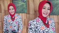 Penampilan cantik istri Ridwan Kamil, Atalia Praratya, di Hari Batik Nasional. (dok. Instagram @ataliapr/https://www.instagram.com/p/B3GJ354H98D/Putu Elmira)