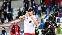 AC Milan selangkah lagi mengamankan jasa Khvicha Kvaratskhelia dari klub Rusia, Rubin Kazan. (AFP/Kirill KUDRYAVTSEV)