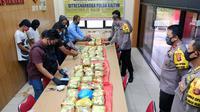 Upaya penyelundupan 62 kilogram sabu dari Malaysia berhasil digagalkan Polda Kaltim. (foto: istimewa)