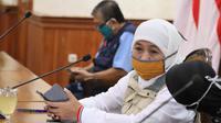 Khofifah Indar Parawansa di Gedung Grahadi, Surabaya, Jawa Timur