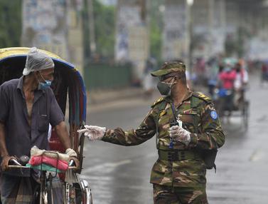 Bangladesh Kerahkan Tentara Kawal Lockdown COVID-19