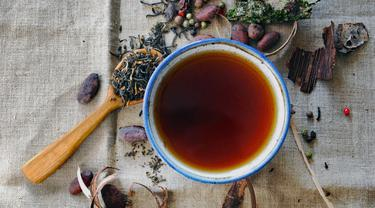 Ilustrasi teh herbal