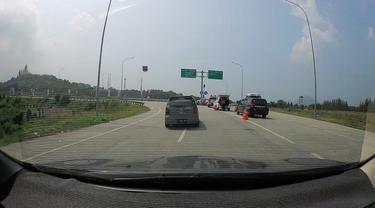 Jalan Tol Trans Sumatera, Bakauheni, Lampung.