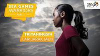 Triyaningsih, atlet Indonesia di SEA Games 2017 cabang lari jarak jauh. (Bola.com/Dody Iryawan)