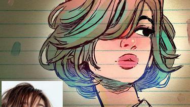 Cute Keren Banget Lukisan Animasi Ini Dibuat Berdasar Foto