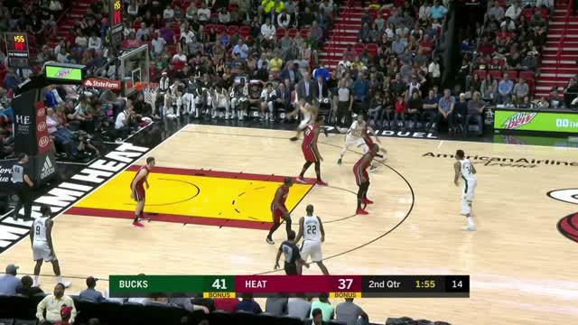Berita video game recap NBA 2017-2018 antara Miami Heat melawan Milwaukee Bucks dengan skor 97-79.