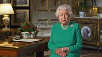 Ratu Elizabeth II menyampaikan pidato tentang krisis corona COVID-19.(dok. foto Buckingham Palace/AFP)
