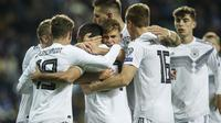 Estonia vs Jerman`(AP Photo/Raul Mee)