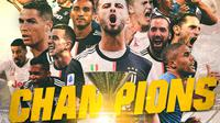 Juventus - Ilustrasi Juara Serie A (Bola.com/Adreanus Titus)