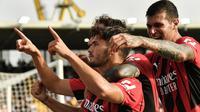 Hingga laga usai skor 2-1 tetap bertahan untuk kemenangan AC Milan. (AFP/Albetto Pizzoli)