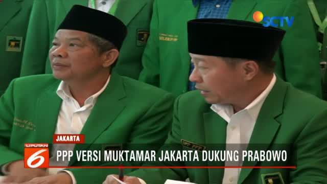 PPP versi Muktamar Jakarta langsung menggelar Mukernas di Jakarta. Sejumlah keputusan dihasilkan dalam Mukernas, salah satunya dukungan kepada pasangan Prabowo-Sandi.