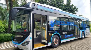 Bus listrik Higer yang akan digunakan Transjakarta
