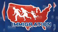 Ilustrasi Kebijakan Imigrasi Amerika Serikat (iStockphoto)
