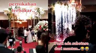 Viral Video Dekorasi Pernikahan Mewah Mendadak Kebakaran, Bikin Tamu Panik