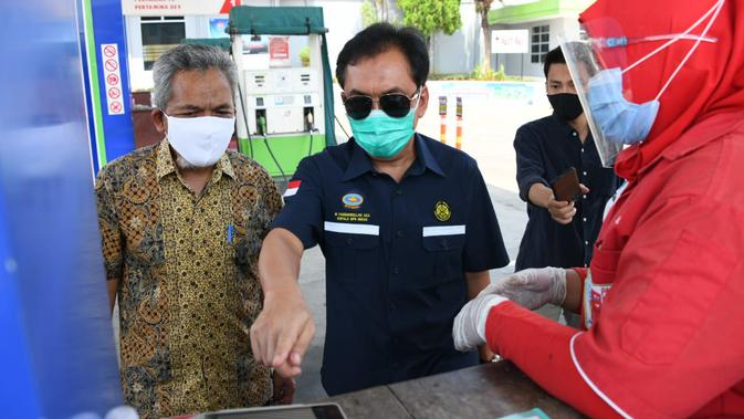 TLKM Kepala BPH Migas Pantau Digitalisasi Nozzle SPBU di Lampung - Bisnis Liputan6.com