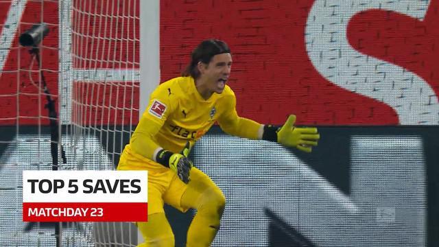 Berita Video 5 Saves Terbaik Bundesliga Pekan 23, Cek Torehan dari Kiper Borussia Monchengladbach, Yann Sommer