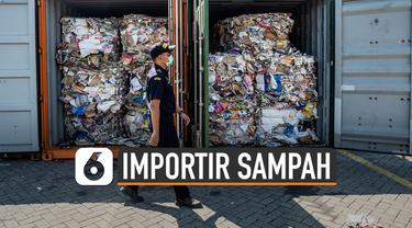 Pemerintah mengancam beri sanksi pidana kepada importir sampah untuk mencegah masuknya limbah sampah ke dalam negeri.