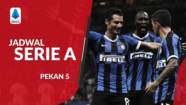 Berita video jadwal Serie A 2019-2020 pekan ke-5. Inter Milan ditantang Lazio, Juventus bertandang ke markas Brescia.